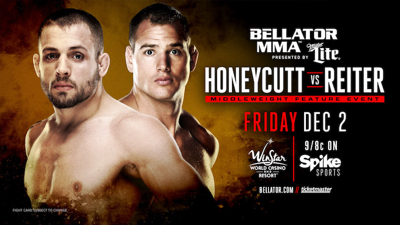 Chris Honeycutt enfrenta Ben Reiter pelo Bellator 166 (Foto: Spike TV)