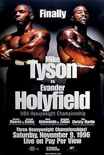 Poster promocional da luta entre Tyson e Holyfield.