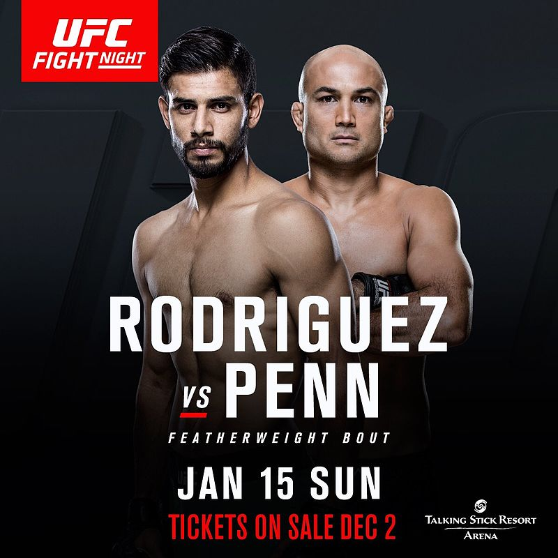 Pôster do UFC Fight Night 103 - Penn vs. Rodríguez (Foto: Zuffa / LLC)