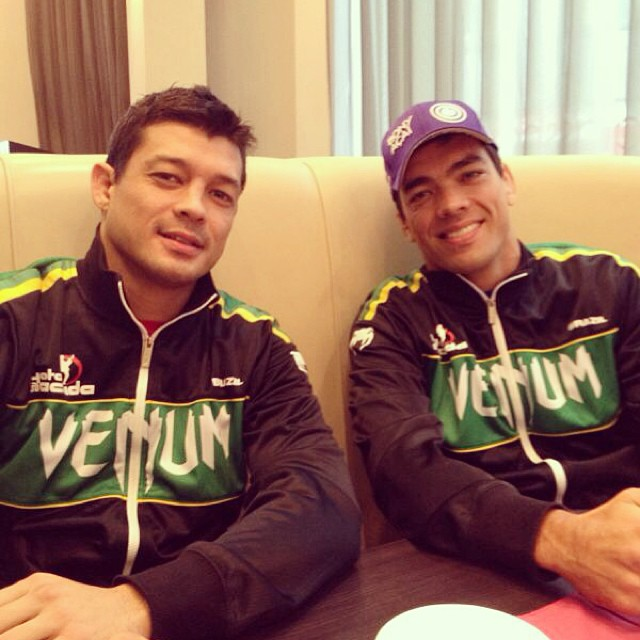 Chinzo e Lyoto Machida (Foto: MMA-Core)