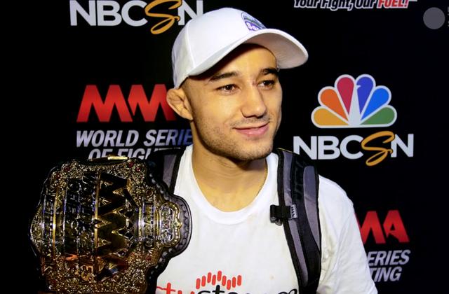 Marlon Moraes com o cinturão do WSOF (Foto: MMA Junkie)