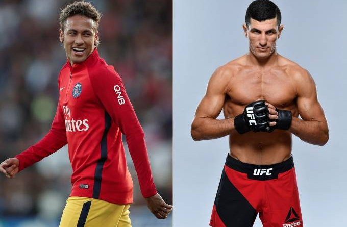 Segundo os tabloides ingleses o craque Neymar contratou o lutador do UFC Nordine Taleb como seu guarda-costa