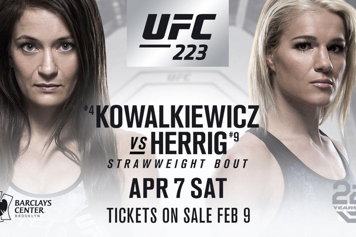 UFC 223 Karolina Kowalkiewicz vs Felice Herrig