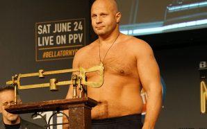 Assista AO VIVO a pesagem oficial do Bellator 198: Fedor…