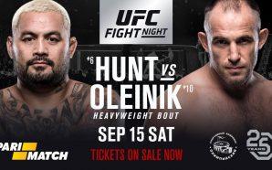 Mark Hunt enfrenta Alexey Oleynik na luta principal do UFC…